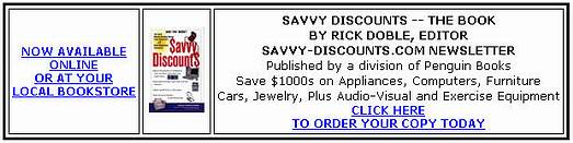 Savvy Discounts - The Book, Order from Amazon