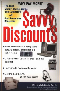 Book, Savvy Discounts by editor-author Rick Doble (Richard Degaris Doble, Doble Richard Degaris).
